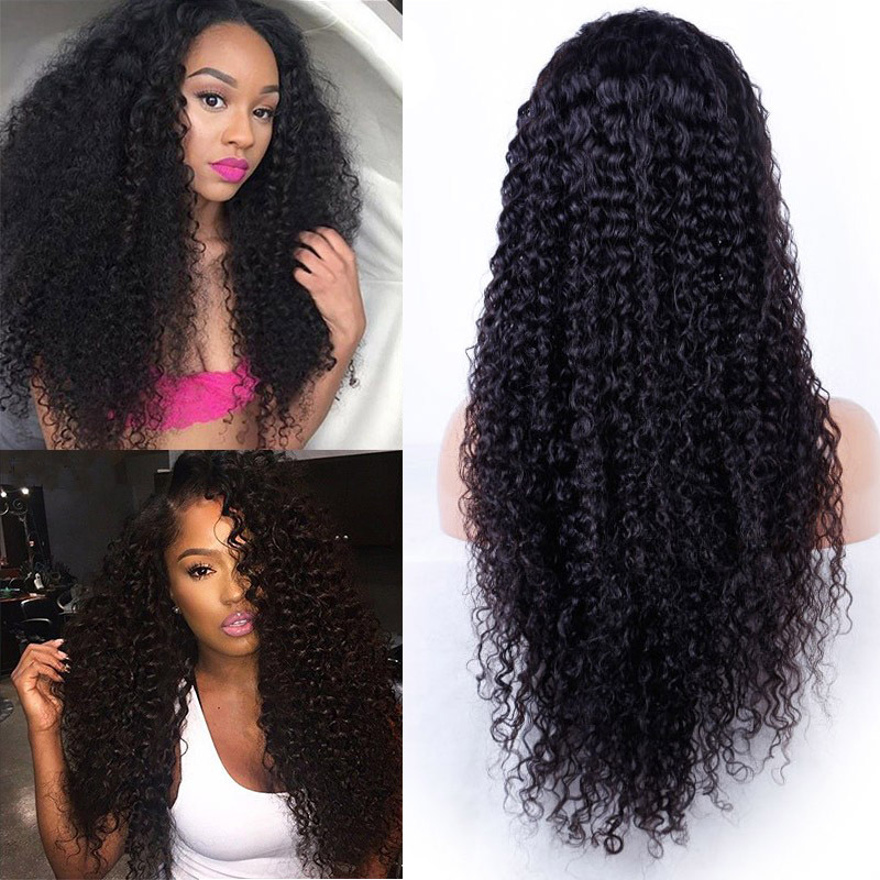 YSwigs Brazilian Human Hair 200% Density Curly 360 Lace Wigs Pre-Plucked For Black Women