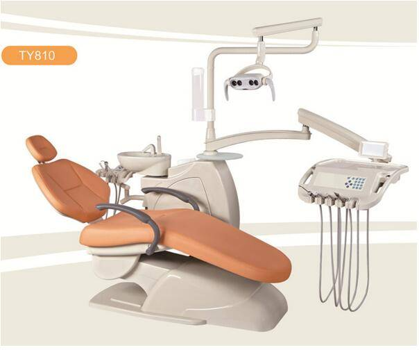 Orange Comfortable Portable Dental Chair Unit With Tissue Box