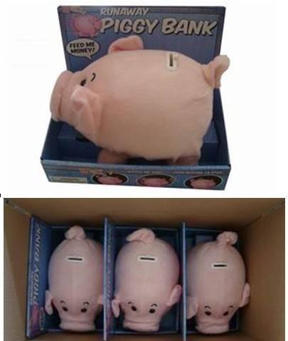 Lovely Runaway Piggy Bank