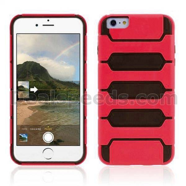 Tank Fashionable Double Color Flexible Hybrid PC+TPU Case For iPhone 6 Plus