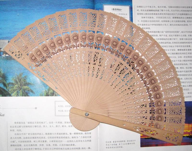 hot selling wooden fan in 2014