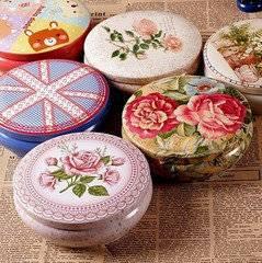 Round shape tea box/metal tea tin can/storage box