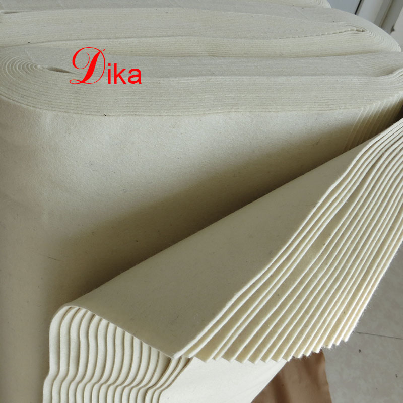 eco friendly 2mm natural white color pressed sauna wool felt
