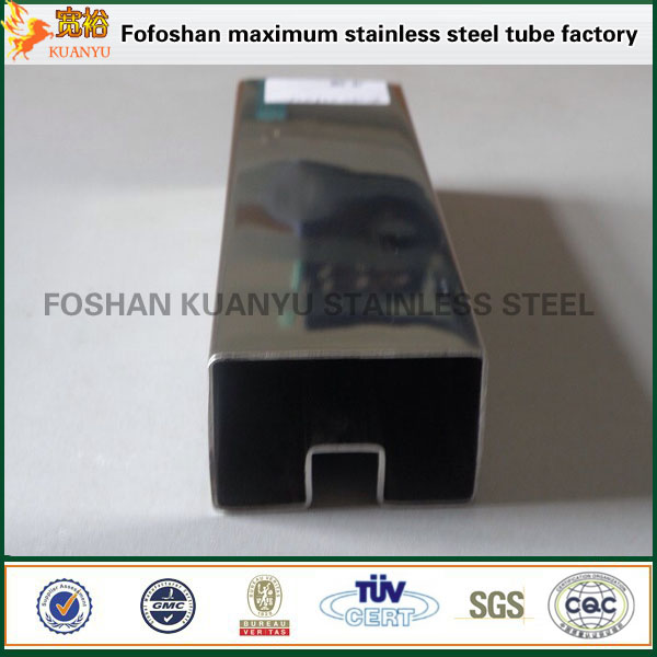 JIS 316 pipe stainless square stainless steel pipe slot tubes
