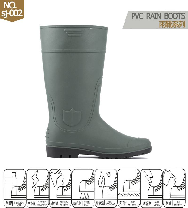 pvc rain boots for industrial 2.5-4.5 dollars