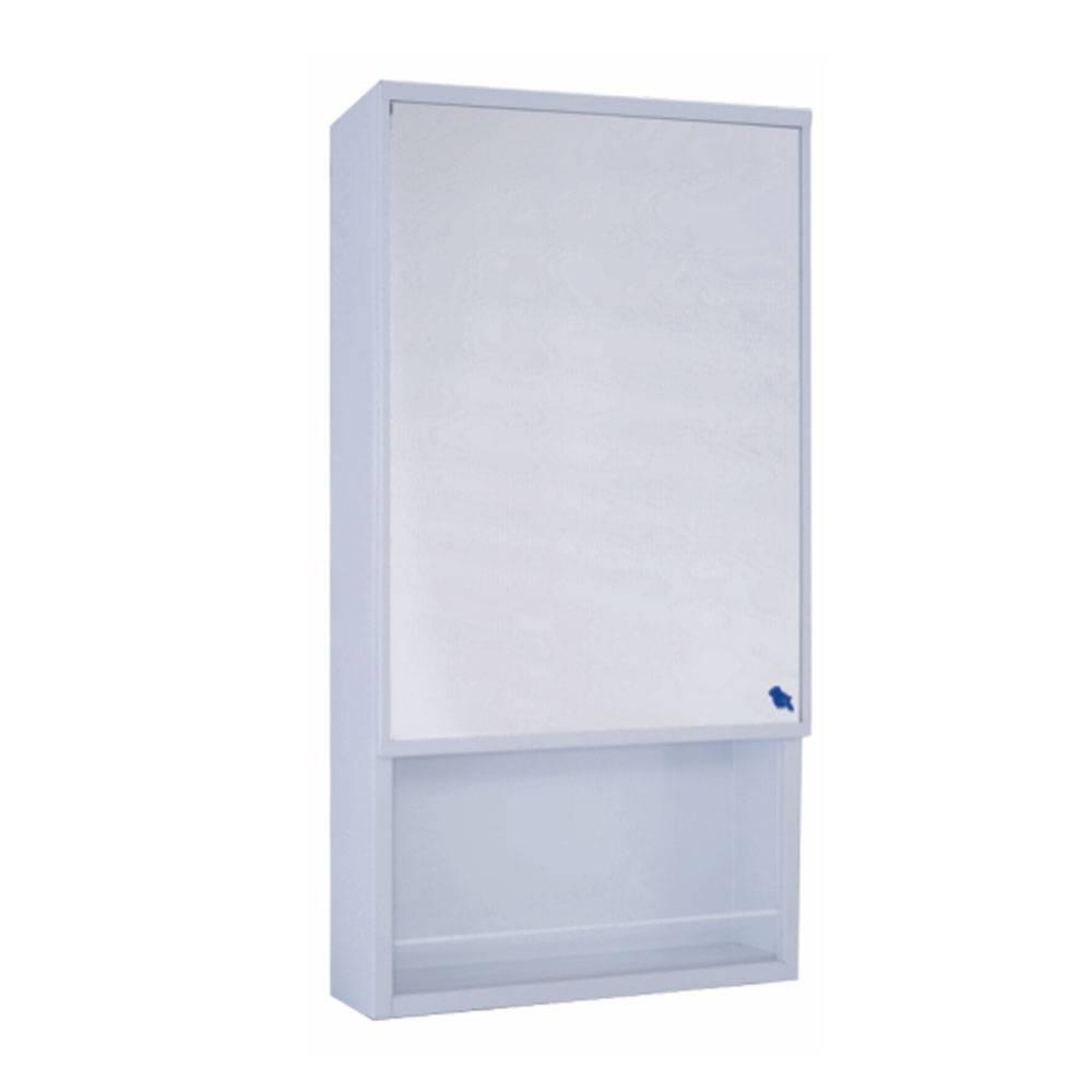 Marine single-door mirror cabinet