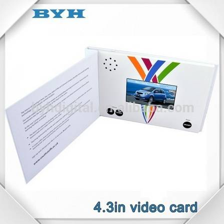 Wedding gift/Party gift video greeting card A4/A5/B5 video cards