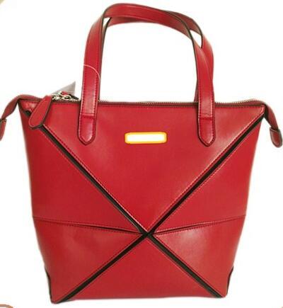 Wholesale cheap price high quality black Lichi grain PU leather tote handbag