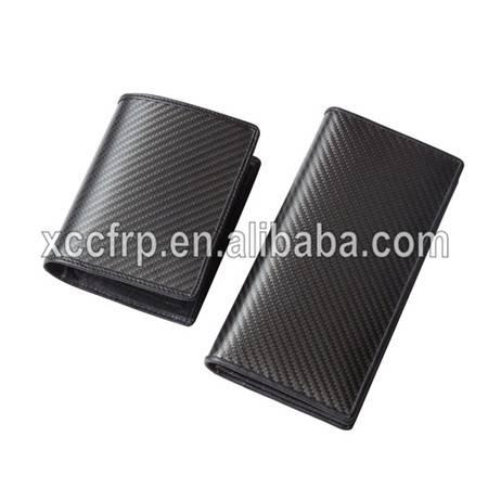 Hot Sale New Real Carbon Fiber Wallet Carbon Wallet Plue Cow Leather