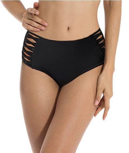 Sexy Women's High Waisted  Bikini Bottoms Swimwear