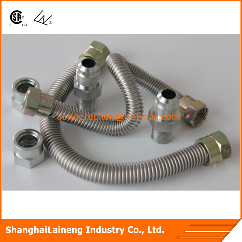 corrugated flexible gas pipe