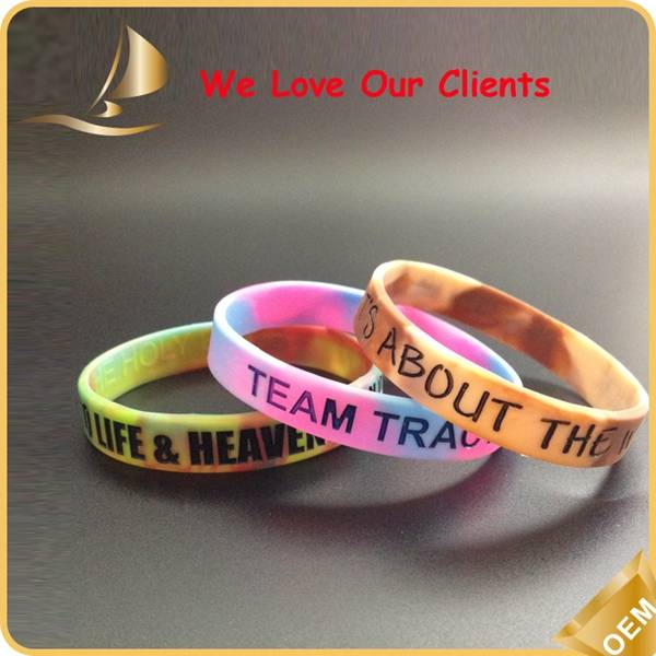 fashion colorful promotional gifts silicone hand band