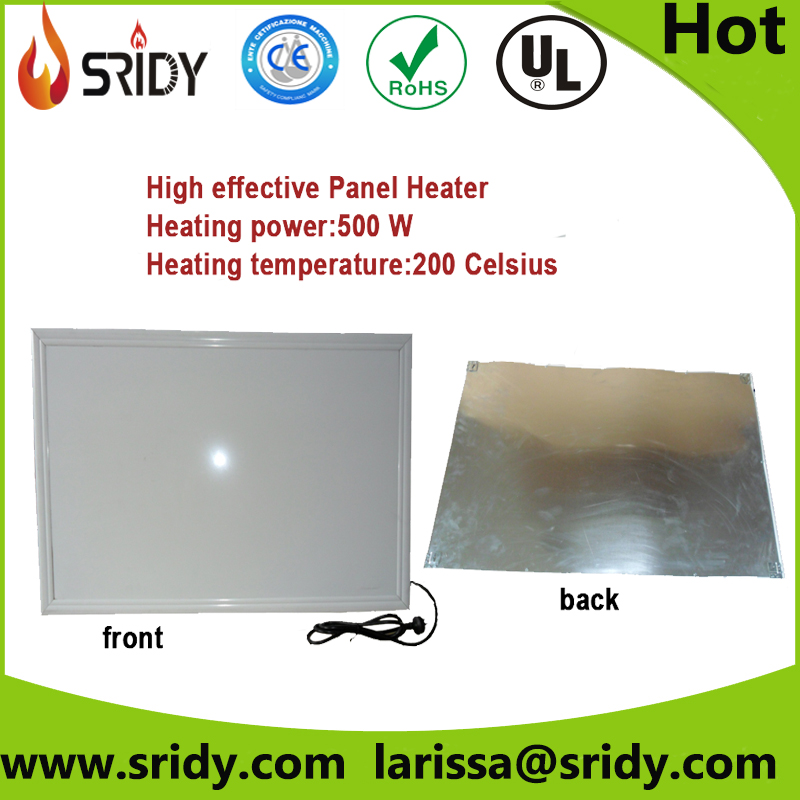 sridy living room panel heaters electrical heating 500W PH10 wall heating firbe heating elements
