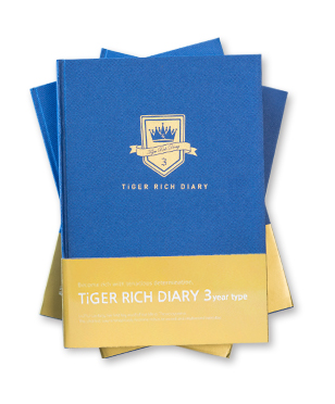 TiGER RICH DIARY for 3years