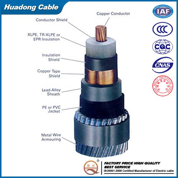 0.6/1KV Aluminum Core PVC Insulated Underground Power Cable
