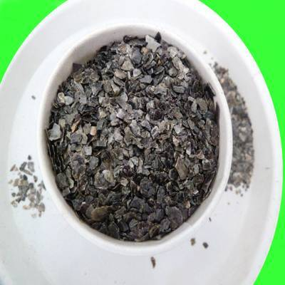 Golden and silver vermiculite