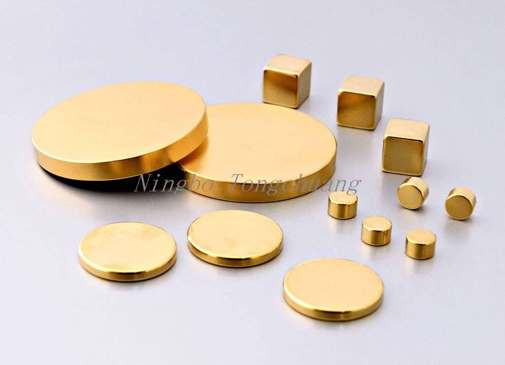 Au coatting Neodymium magnet