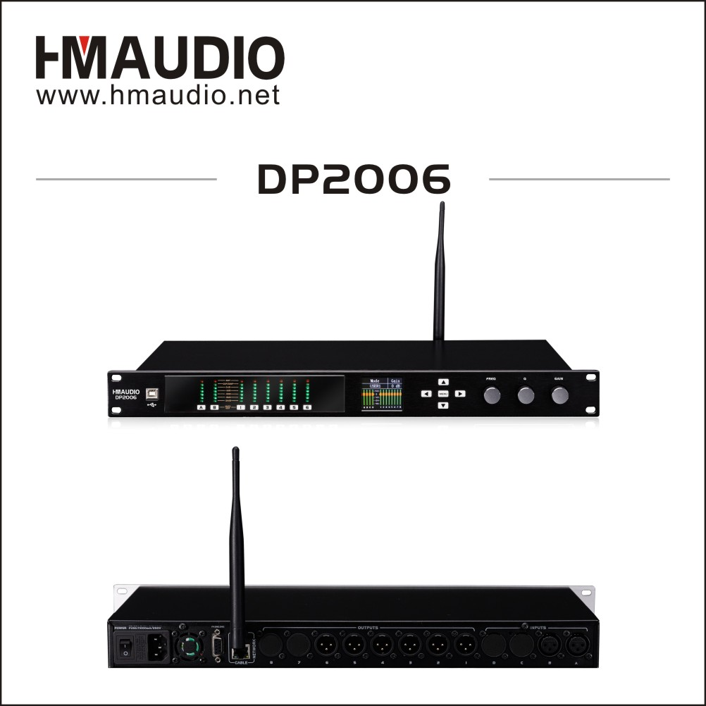 WiFi function loudspeaker management with CE certification 2 in 6 out DP2006