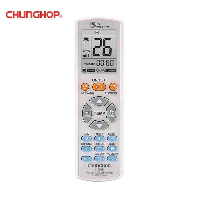CHUNGHOP K-301E Multi Function Air Conditioner Remote Control Replacement For Gree Brand
