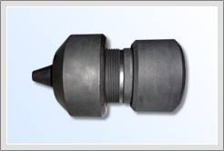 Graphite chuck for polysilicon pulling
