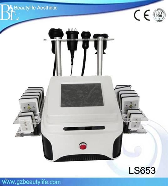 New Cavitation Ultrasonic+Lipo Laser+Multipolar RF+Tripolar Bipolar Fat Reduce Weight Loss Machine