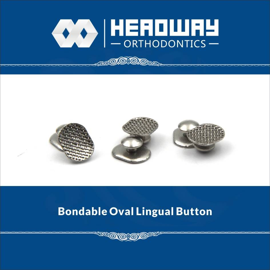 Headway Orthodontic Oval base Lingual Button with CE