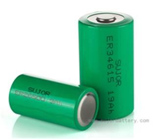 Li-SOCl2 3.6V ER34615 19Ah high energy type for meter