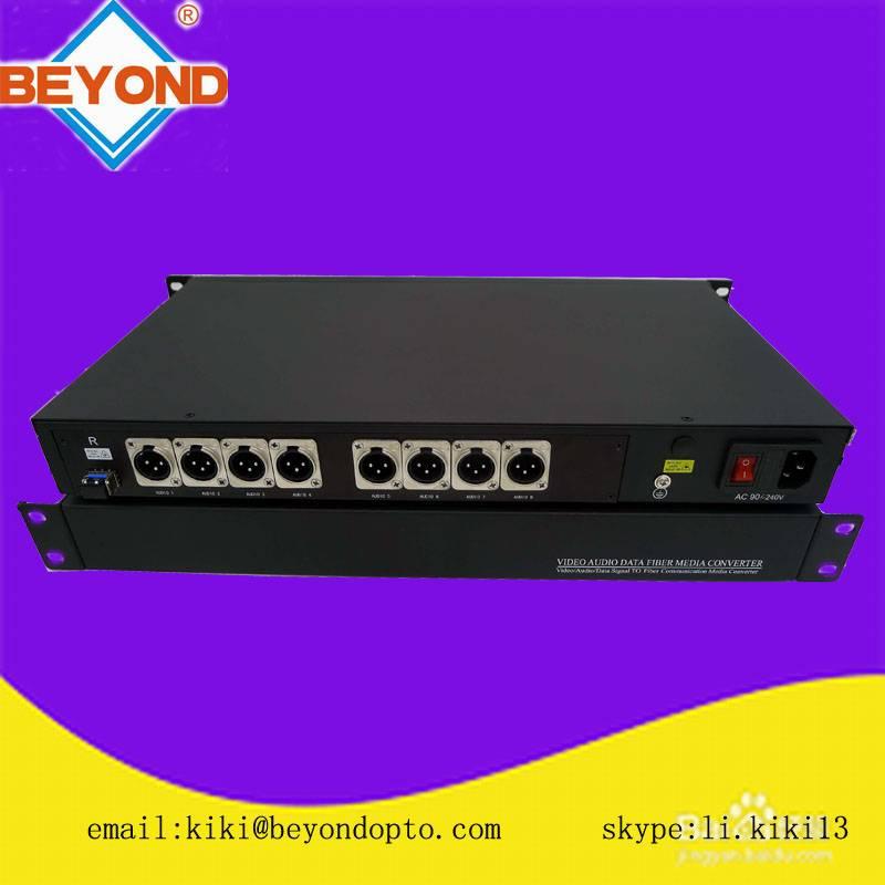 SC/LC/ST/FC 8ch balanced digital audio over XLR connector to fiber support 8ch encoded broadcast qua