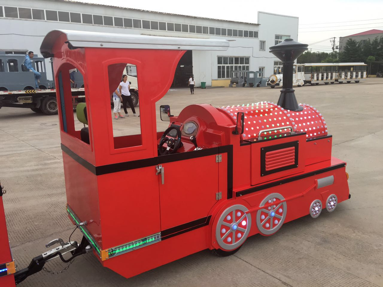 tourist train in park and shopping mall mini train