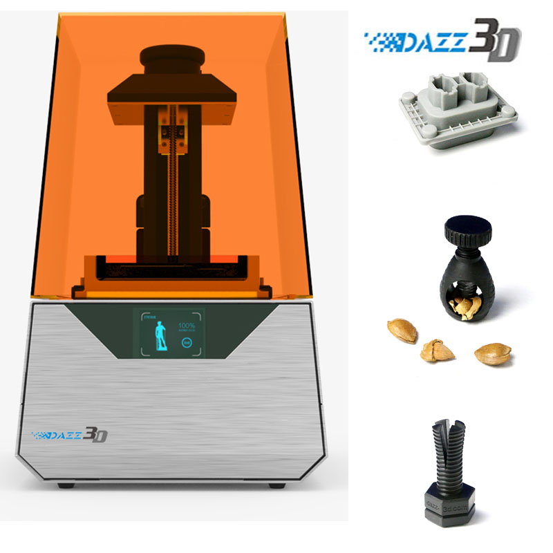 Dazz 3D Desktop SLA 3D Printer for Jewelry, Dental, Education, Prototype