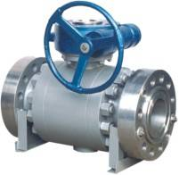 API Floating Three-Piece Type Ball Valve with Flanged and Worm Operated