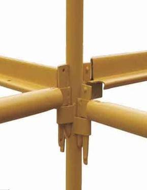 Yellow Painted Kwikstage System Scaffolding
