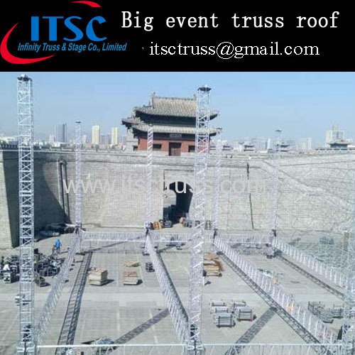 Big concert stage lighting flat roof 30 x 24 x 12M