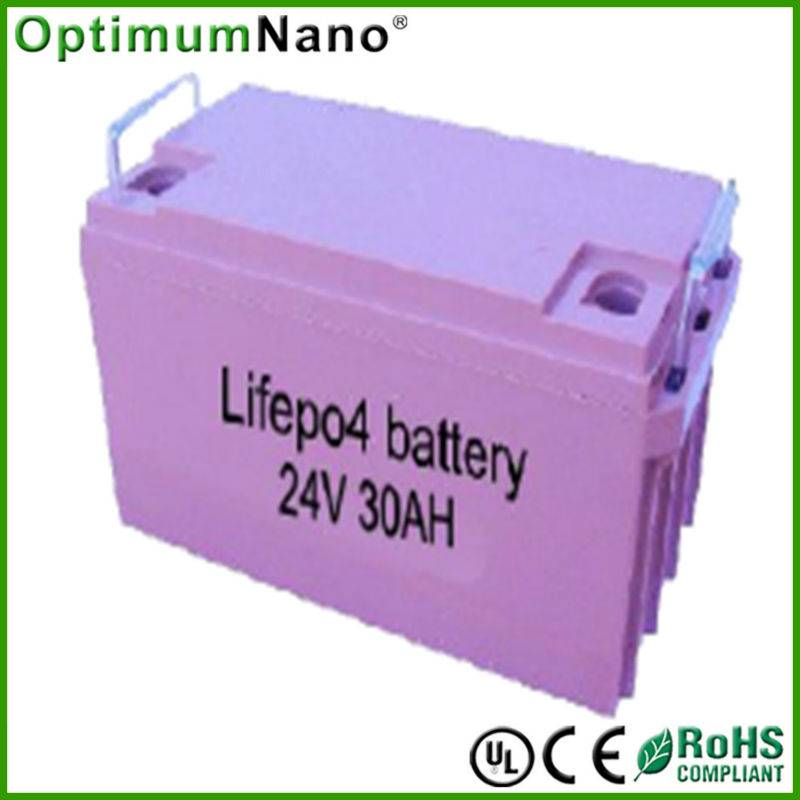 24V 30AH lifepo4 ebike battery