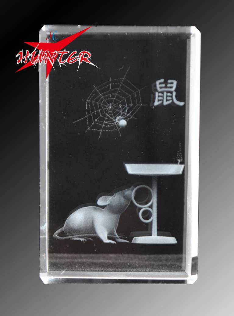 Attractive Mouse Crystal,K9 Mice Crystal 3D laser Gift