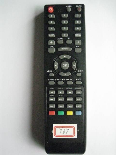 Remote Control for Video & Audio, Universal, Y67