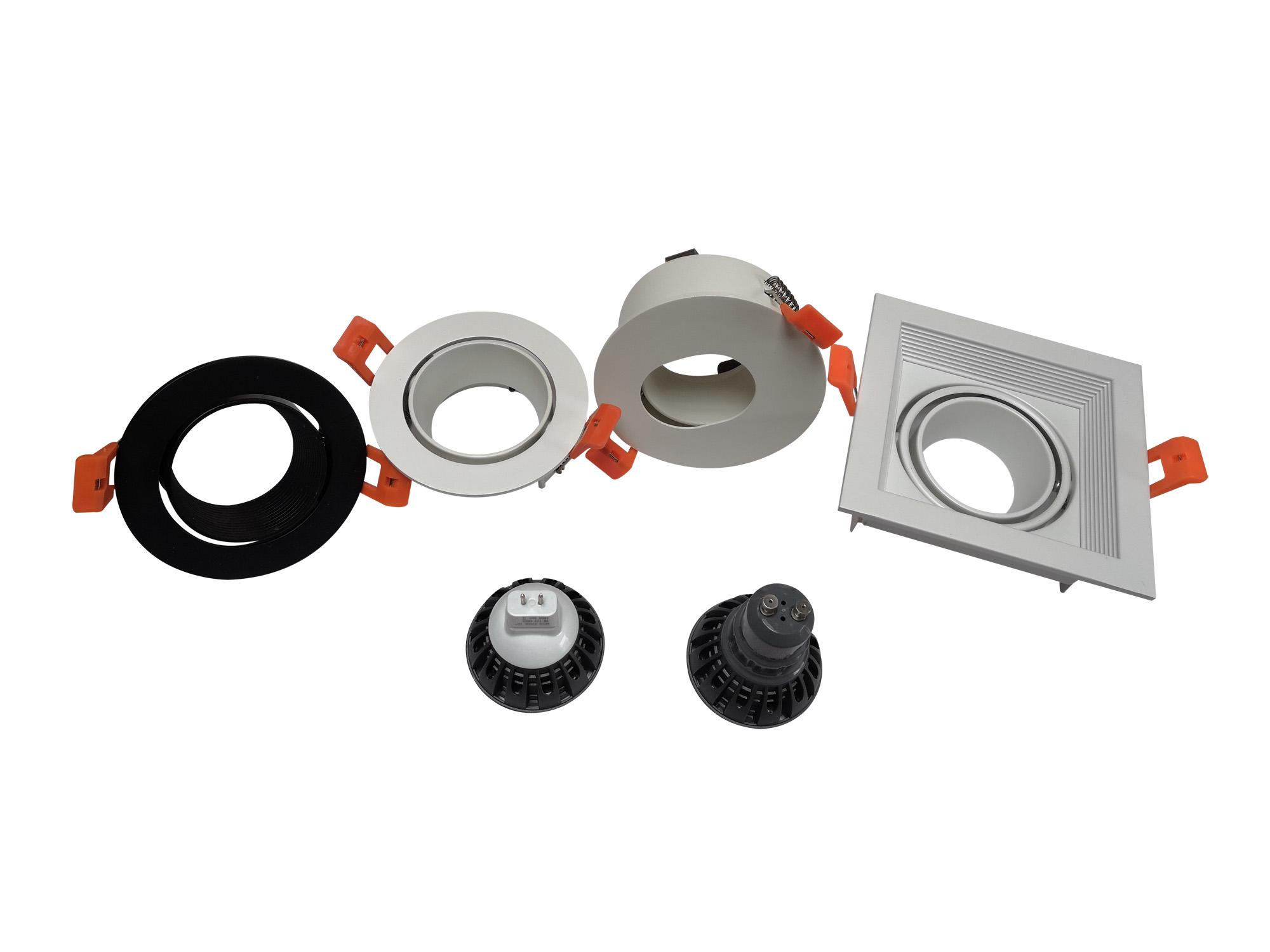 Recessed LED Ceiling Light Adjustable Frame MR16 GU10 Bulb LED Ceiling Spot Light Lighting Fixtures