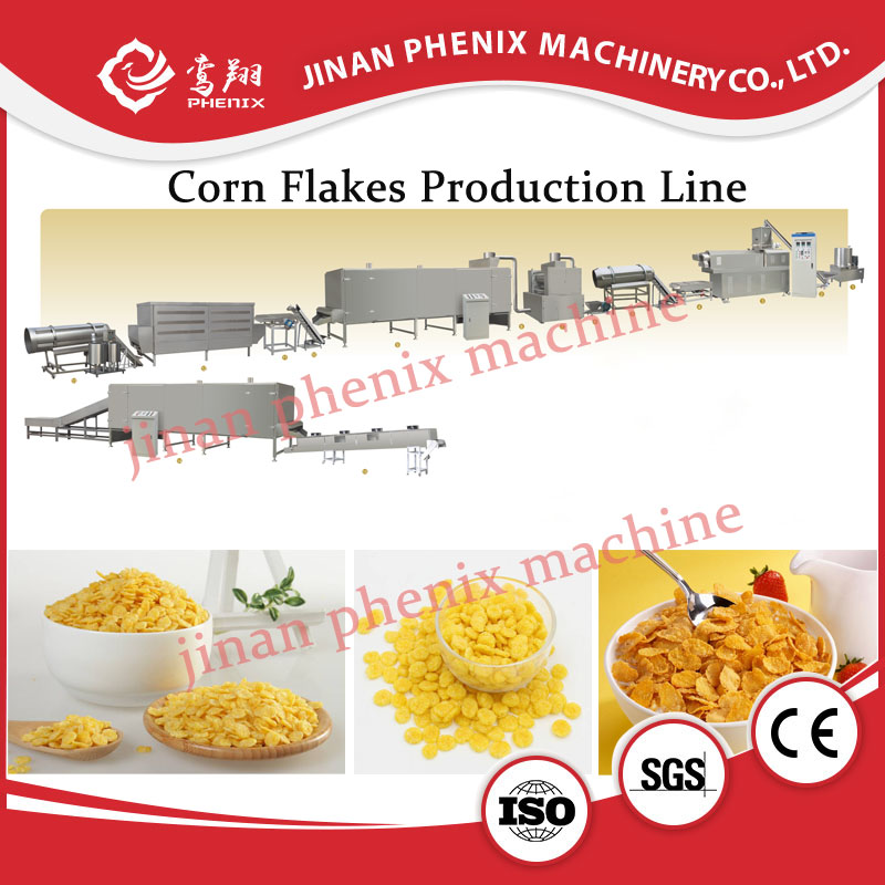 nutrition honey corn flakes food extruder making machine