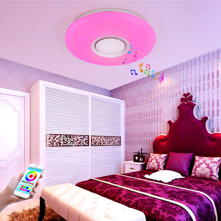 Modern smart dimming rgb round music led ceiling light acrylic bedroom living room ceiling Lamp