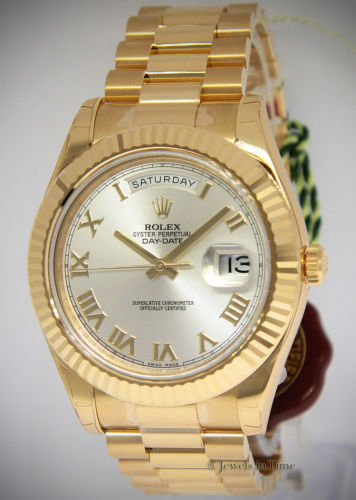 Rolex NEW Day-Date II President 18k Yellow Gold Mens luxury Watch Box/Papers 218238