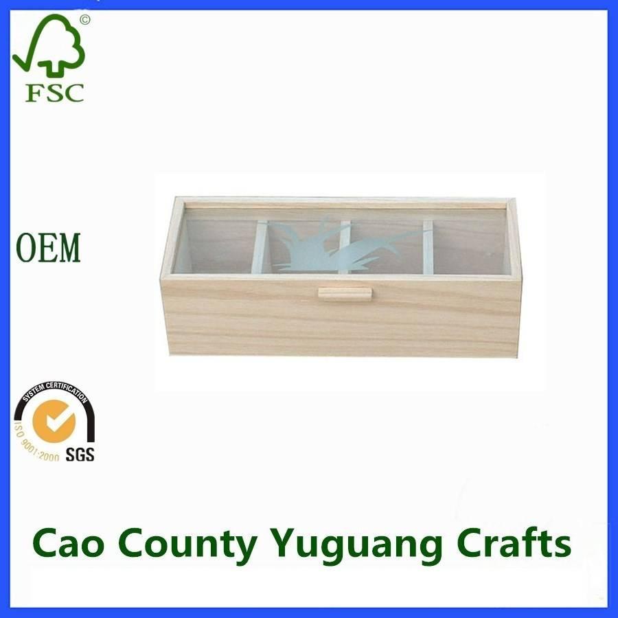 Wooden Tea Box Wooden Box for Tea Bag Packaging