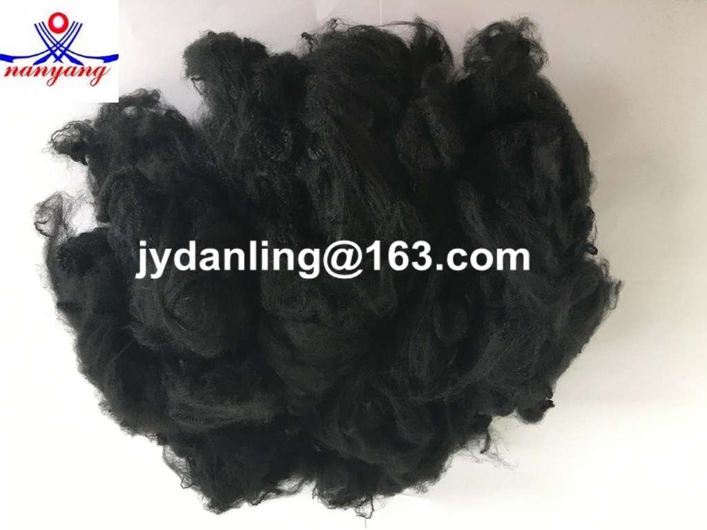 Polyester Staple Fiber (PSF) in black