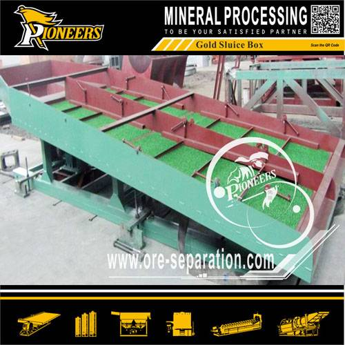 alluvial gold ore washing riffles sluice box