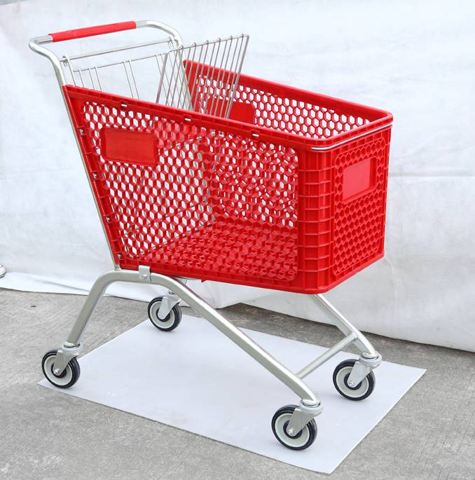High Quality Supermarket Shopping Carts With Advertising Board Wholesale