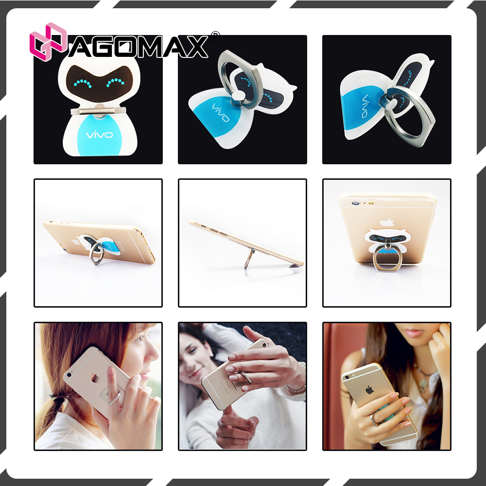 Universal Phone Grip Sticky Cell Phone Stand Finger Grip Mobile Ring Holder