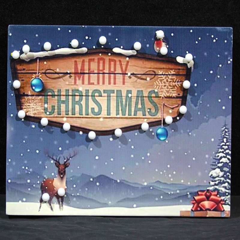 wooden decorative christmas wall plaques light up ground sign