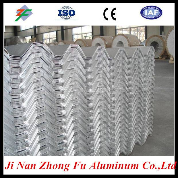 1060 Prepainted embossed corrugated aluminum roofing sheets