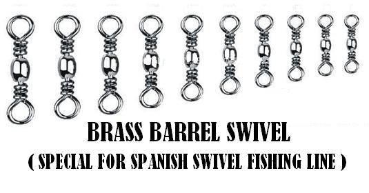 Commercial fishing swivel - Brass barrel swivel