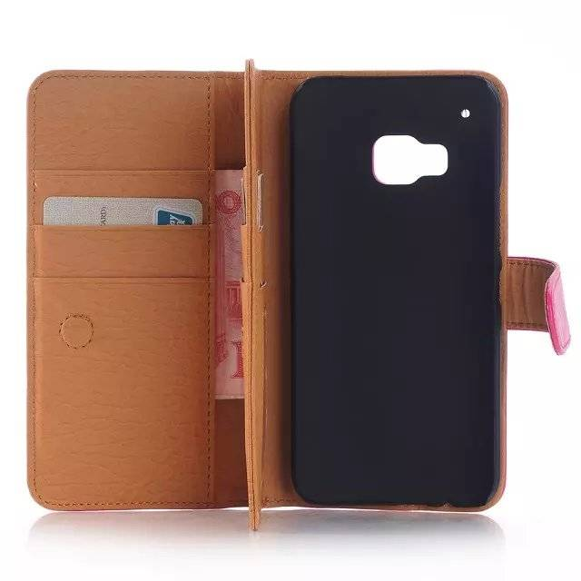 High Quality Mobile Phone 3-Wallet Crazy Horse PU Leather Flip Case for HTC M9