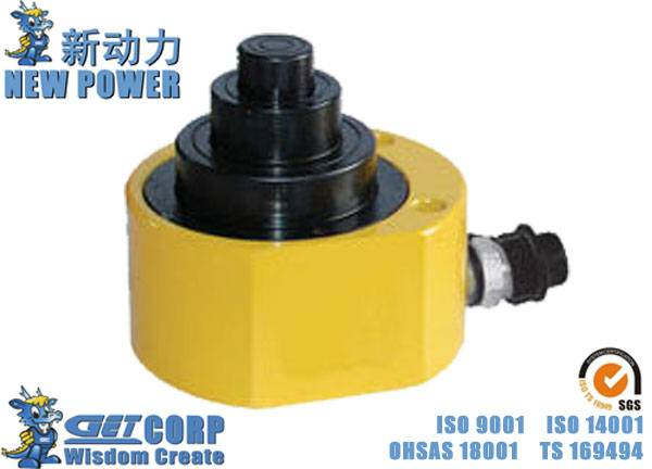 10T-100T Hydraulic Jack YLYGM Ultra Thin Multi Stage Jack ,Separable Type